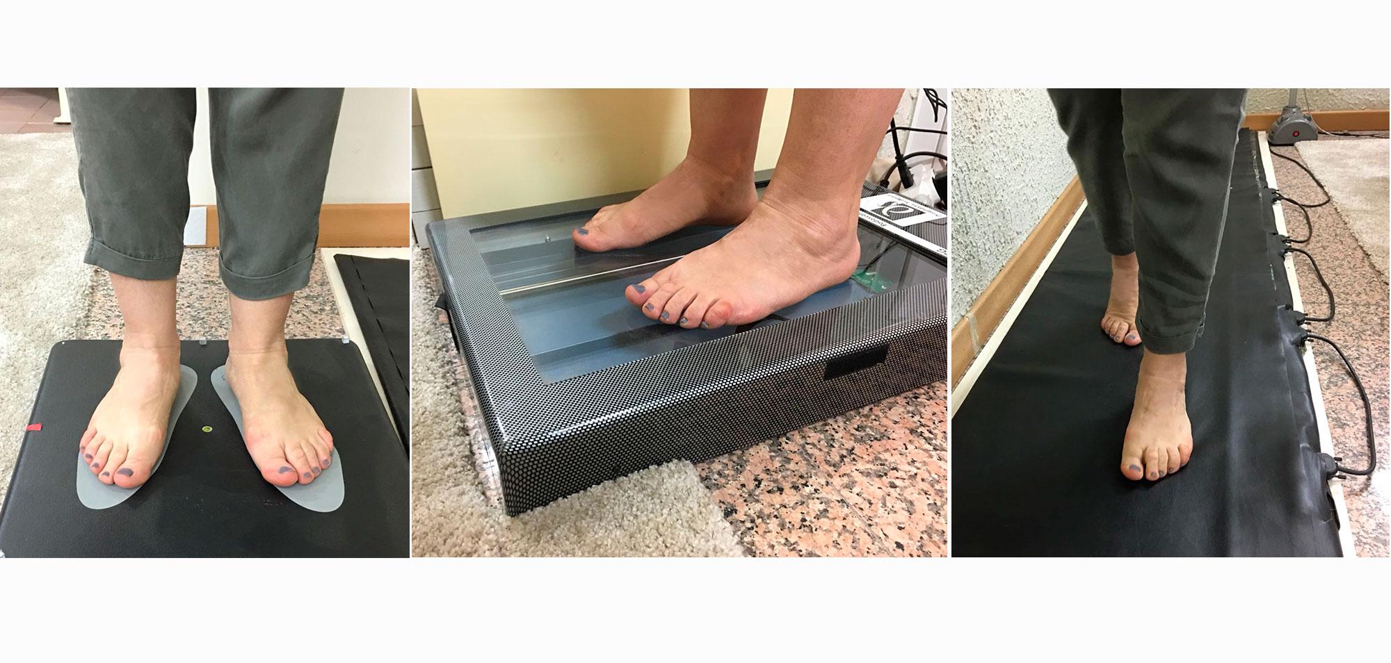 Gli strumenti del centro diagnostico-funzionale di Sanisfera: barometria, podoscopia e podoscanner.