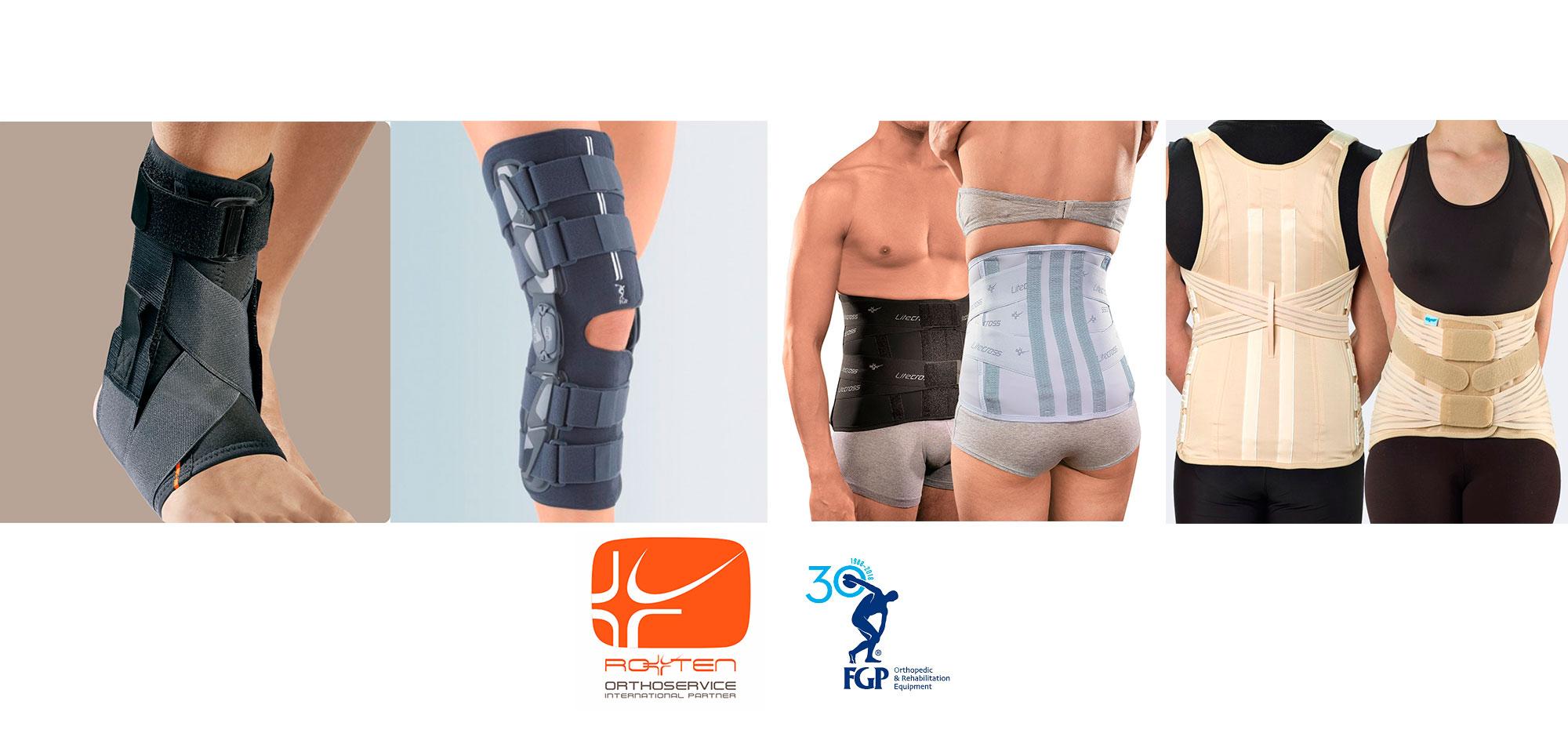 supporti ortopedici per tronco e gambe disponibili da Sanisfera